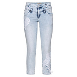 Sweat-Jeans mit Applikation 62cm, bleached