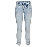 Sweat-Jeans mit Blüten 64cm, bleached
