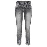 Sweat-Jeans mit Blüten 64cm, grey