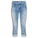 Jeans mit Stickerei 54cm, light blue
