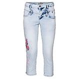 Jeans mit Schmetterling 55cm, bleached