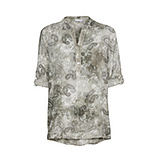 Bluse im Alloverprint, khaki