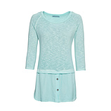 Pullover mit Hemdsaum, mint