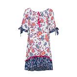 Kleid im Alloverprint, weiß