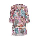 Tunika-Kleid im Alloverprint, bunt