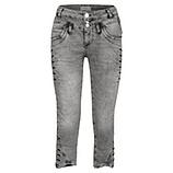 Sweat-Jeans mit Zier-Knöpfen 55cm, light grey