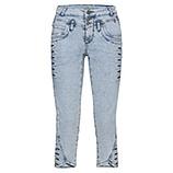 Sweat-Jeans mit Zier-Knöpfen 55cm, bleached