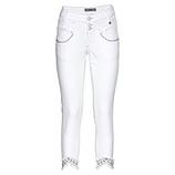 Sweat-Hose mit Stickerei 64cm, weiß