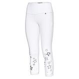 Baumwoll-Leggings mit Stern 55cm, weiß