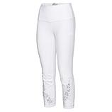 Baumwoll-Leggings mit Floral-Applikation 58cm, weiß