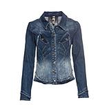 Jeansjacke mit Nieten, blue denim