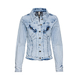 ONLINE EXKLUSIV: Jeansjacke mit Nieten, bleached