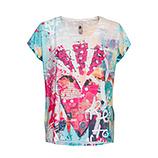 Oversize Shirt mit Herz, bunt