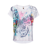 Oversize Shirt mit Print, weiss