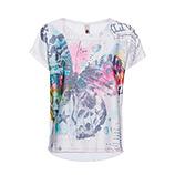 AKTION: Oversize Shirt mit Print, weiss