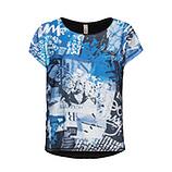 Oversize-Shirt mit Print, himmelblau