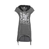 Shirt mit Streifen, schwarz-weiss