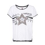 Oversize Shirt mit Stern, weiß