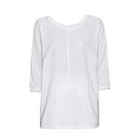 Shirt mit Lurex, weiß