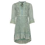 Kleid mit Kurbelstickerei, salbei