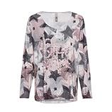 Shirt im Alloverprint, rosenholz