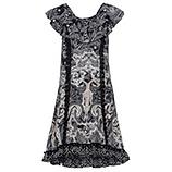 Kleid im Alloverprint, schwarz-weiß