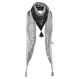 Schal mit Flecht-Design, eiffelturm-titan