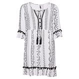 Kleid Streifen-Print, weiß