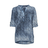Bluse im Alloverprint, denim