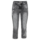 Sweat-Jeans mit Stickerei 52cm, light grey