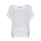 Shirt mit Struktur, weiß