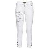 Sweat-Hose mit Knöpfen 64cm, weiß