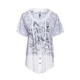 Shirt mit Stern Motiv, hellgrau