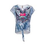 Shirt mit Front-Print, blau