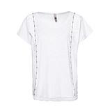 Shirt mit Volants, weiß