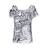 Shirt mit Allover-Animal-print, grau