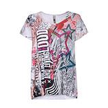 AKTION: Oversize-Shirt mit Stern-Print, bunt