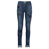 Sweat-Jeans mit Patches 82cm, dark blue
