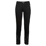 Hose mit Loch-Spitze 68cm, schwarz