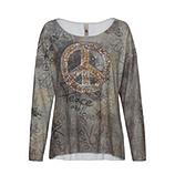 Shirt im Alloverprint, khaki