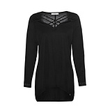 COSY Shirt mit Kreuzschnürung, schwarz
