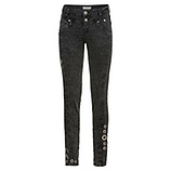 Sweat-Jeans mit Glitzersteinen 80cm, dark grey
