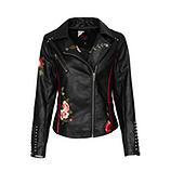 Jacke aus Veggie-Leder, schwarz