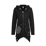 Sweat-Jacke mit Netz, schwarz