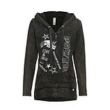 Sweat-Jacke mit Schriftzügen, khaki