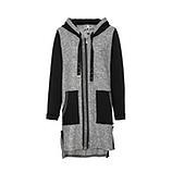 Mantel mit Schriftzug, grau-schwarz