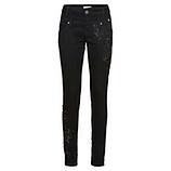 Hose mit Spitzen-Patch, schwarz