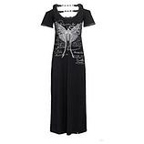 Kleid mit Schmetterlings-Motiv, schwarz