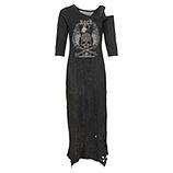 Langes Kleid mit Cut-Outs und Glitzersteinchen, siena