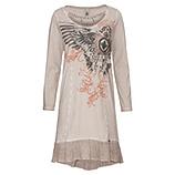 Kleid mit Flügel-Print, sand
